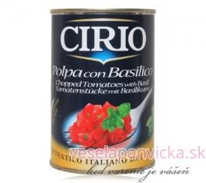 CIRIO CAN VEG POLPA BASILICO TOMATO 400g_1-500x445
